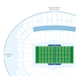 Allegiant Stadium Interactive Football Seating Chart