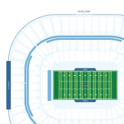 Bank Of America Stadium Interactive Football Seating Chart