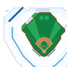 Comerica Park - Interactive baseball Seating Chart