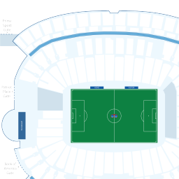 Gillette Stadium Interactive Soccer Seating Chart