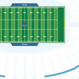 Buffalo Bills Stadium Interactive Football Seating Chart